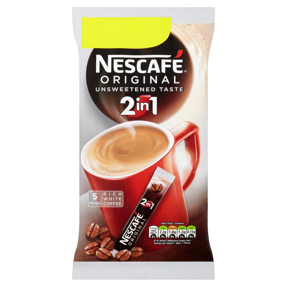 Nescafe Orig 2In1 Instant Coffee 5sachets PM£1