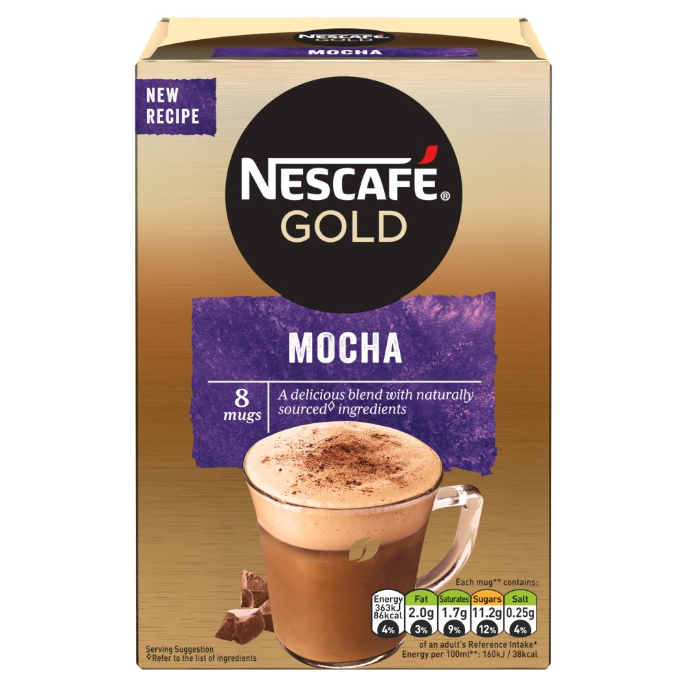 Nescafe Cafe Menu Mocha Coffee 8 Sachets