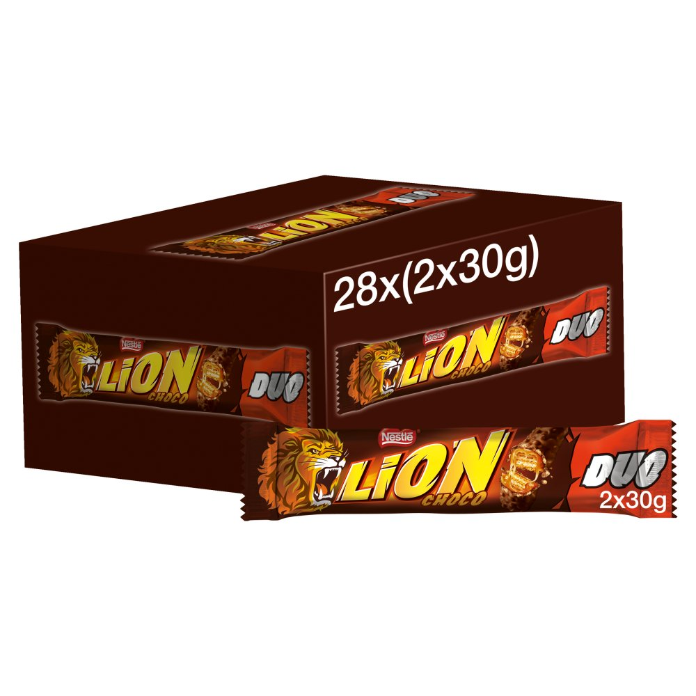 Lion Milk Chocolate Duo Bar 60g