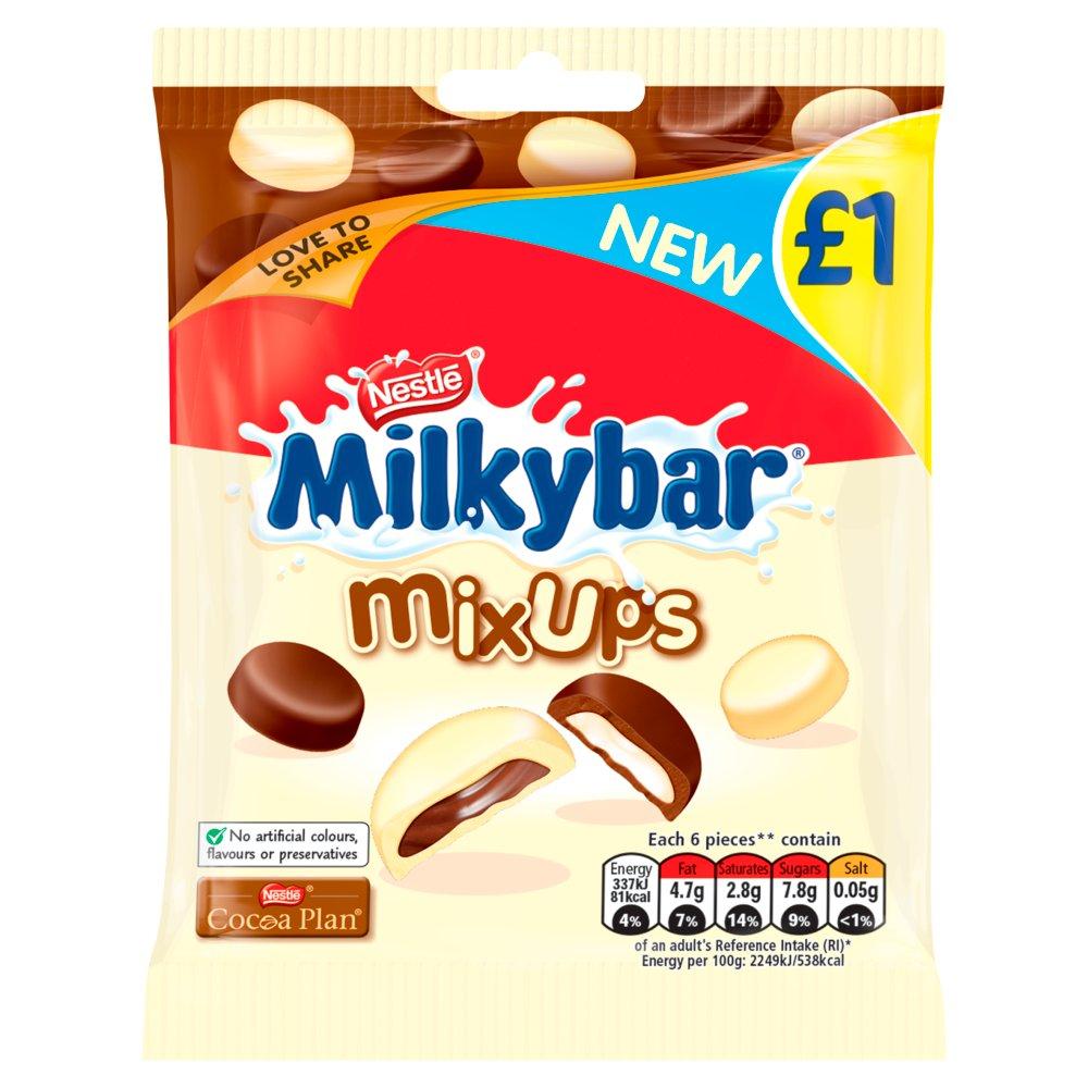 Milkybar Mix Ups White and Milk ChocolateSharing Bag 78g
