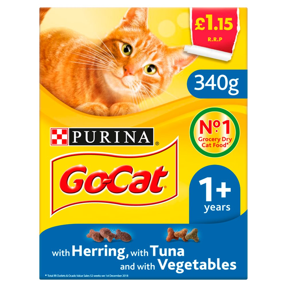 Go-Cat with Herring, with Tuna and with Vegetables 1+ Year 340g