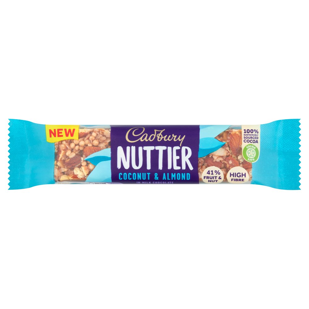 Cadbury Nuttier Coconut & Almond Chocolate Bar 40g