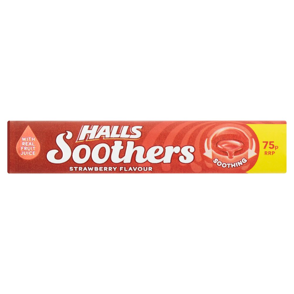 Halls Soothers Strawberry Sweets 75p 45g