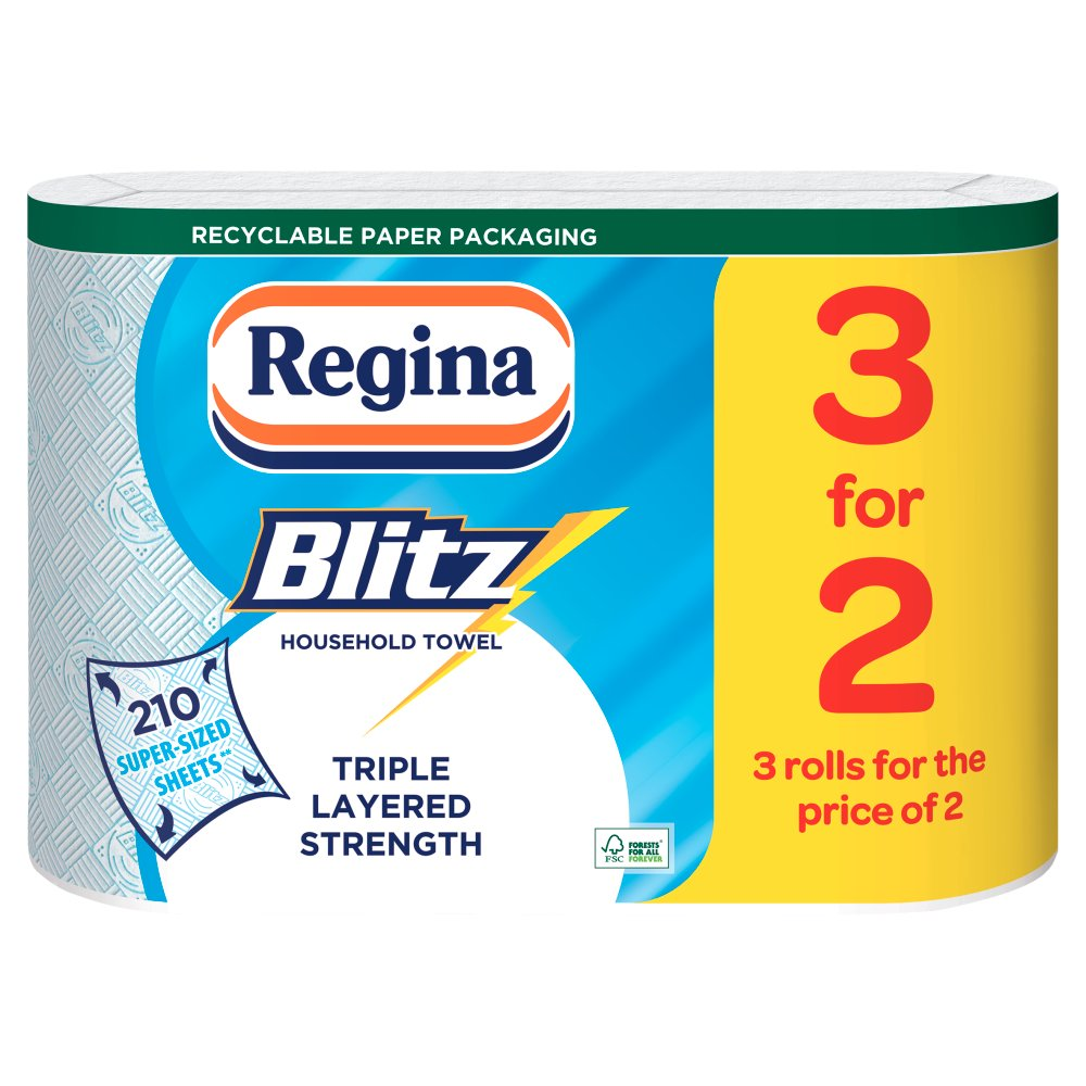 Regina Blitz 3 For 2 Roll Kitchen Towel