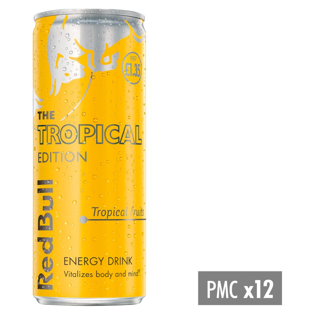 Red Bull Energy Drink, Tropical Edition, PM £1.35, 250ml (12 Pack)