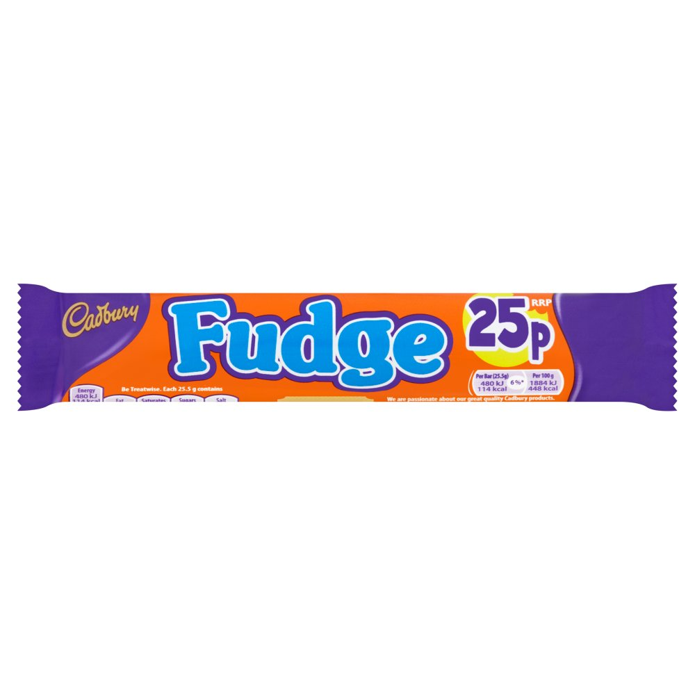 Cadburys Fudge PM 25p