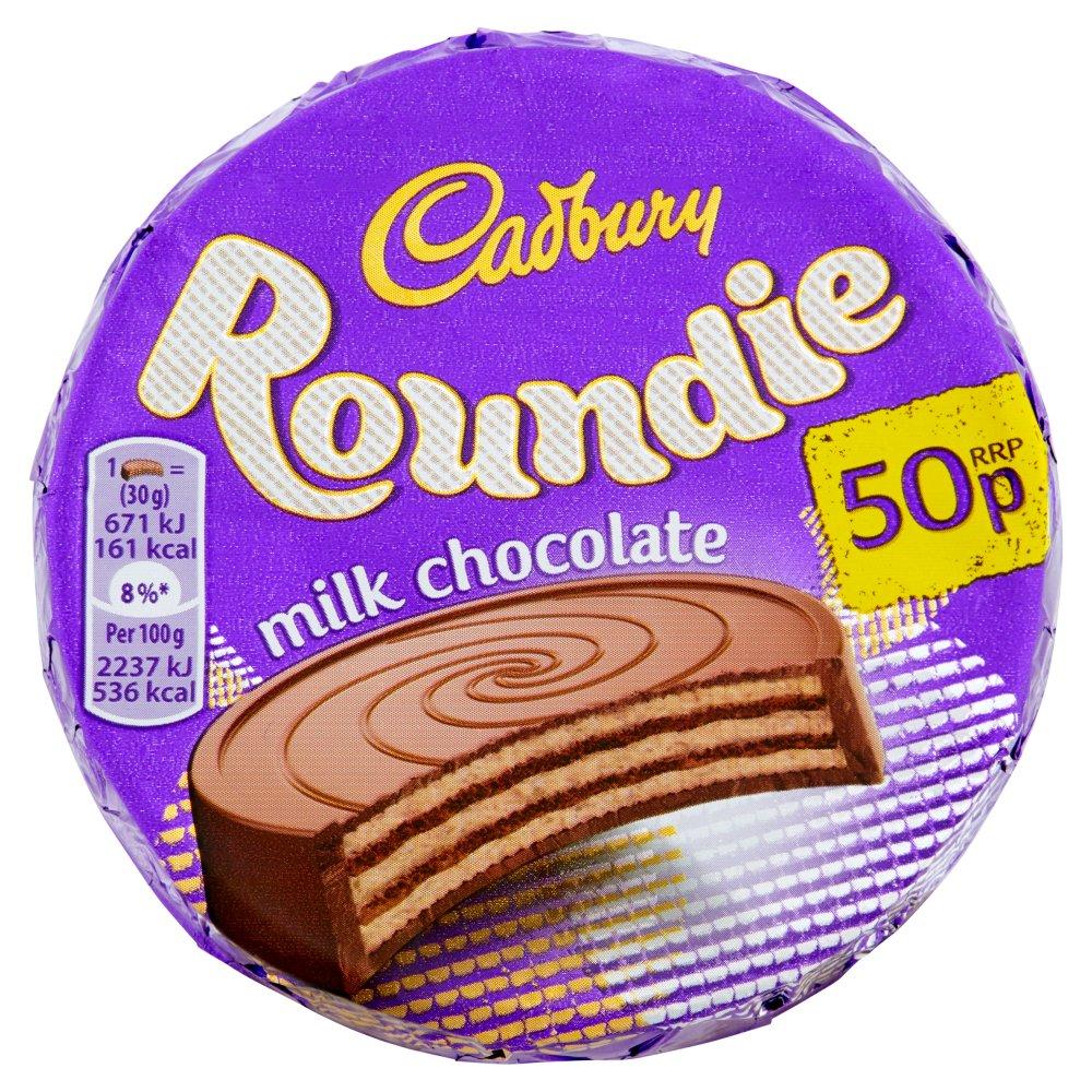 Cadbury Roundie Milk Chocolate Biscuit 50p 30g