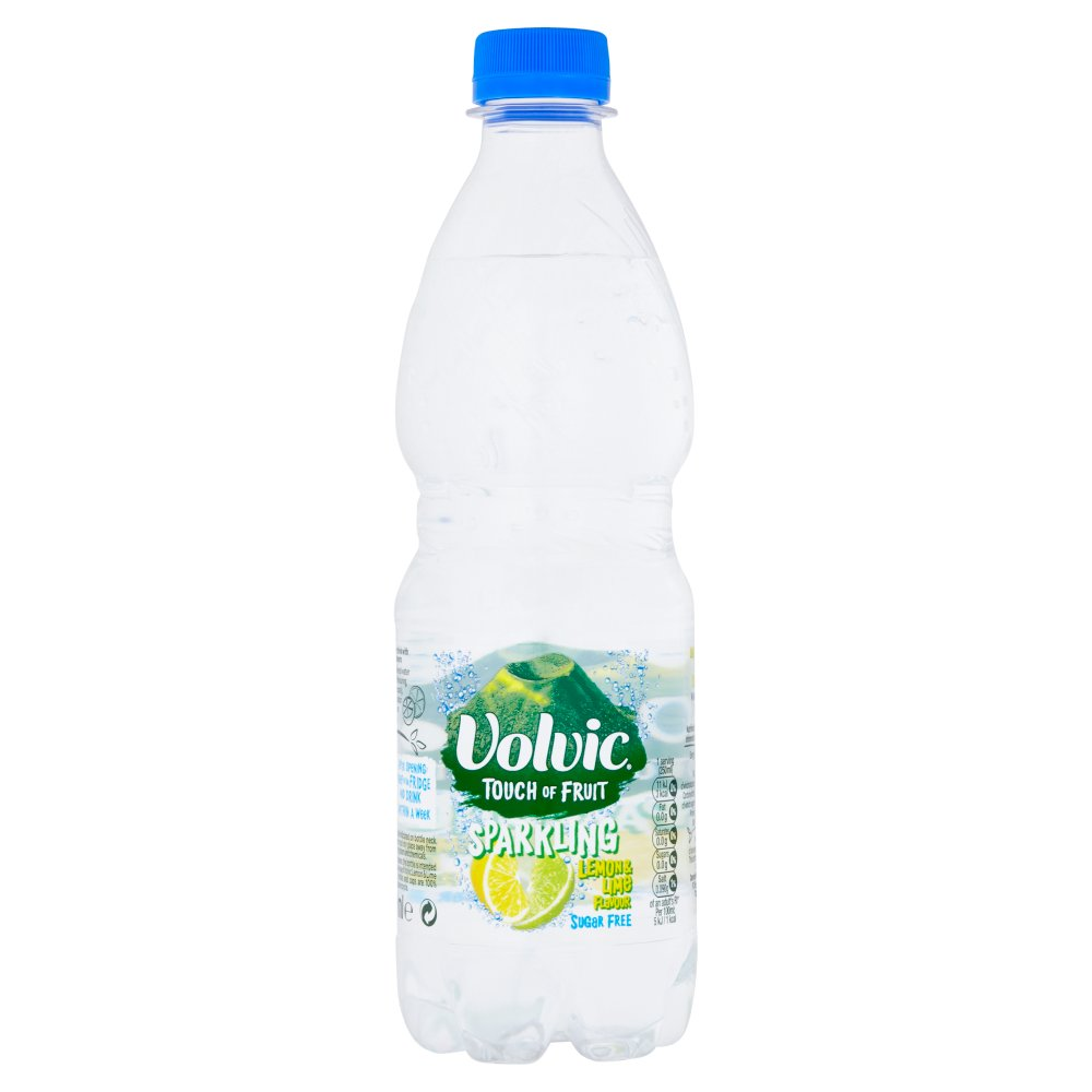 Volvic Touch Of Fruit Sparkling Lemon & Lime 500ml