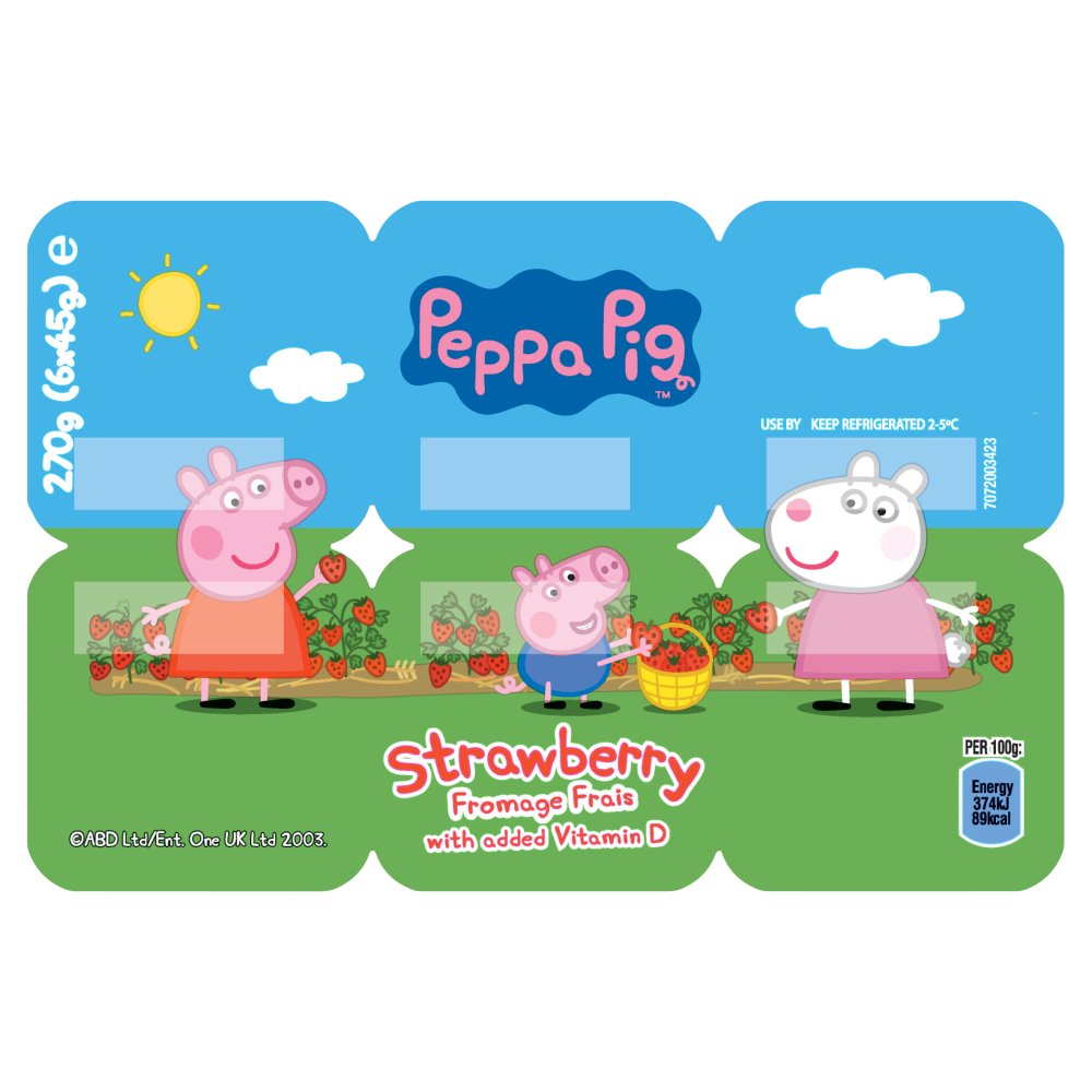 Peppa Pig Strawberry Fromage Frais 6 x 45g (270g)