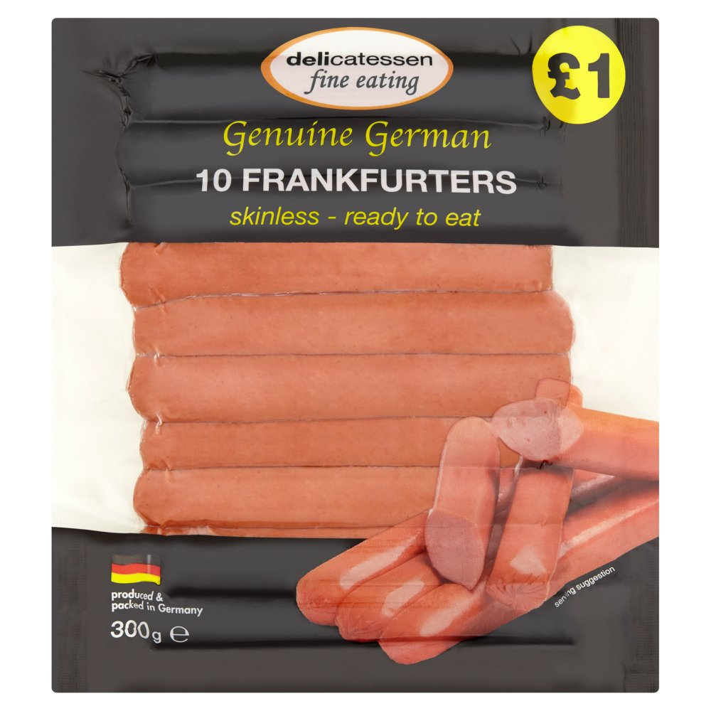 Delicatessen Fine Eating Frankfurters 10 x 30g (300g)