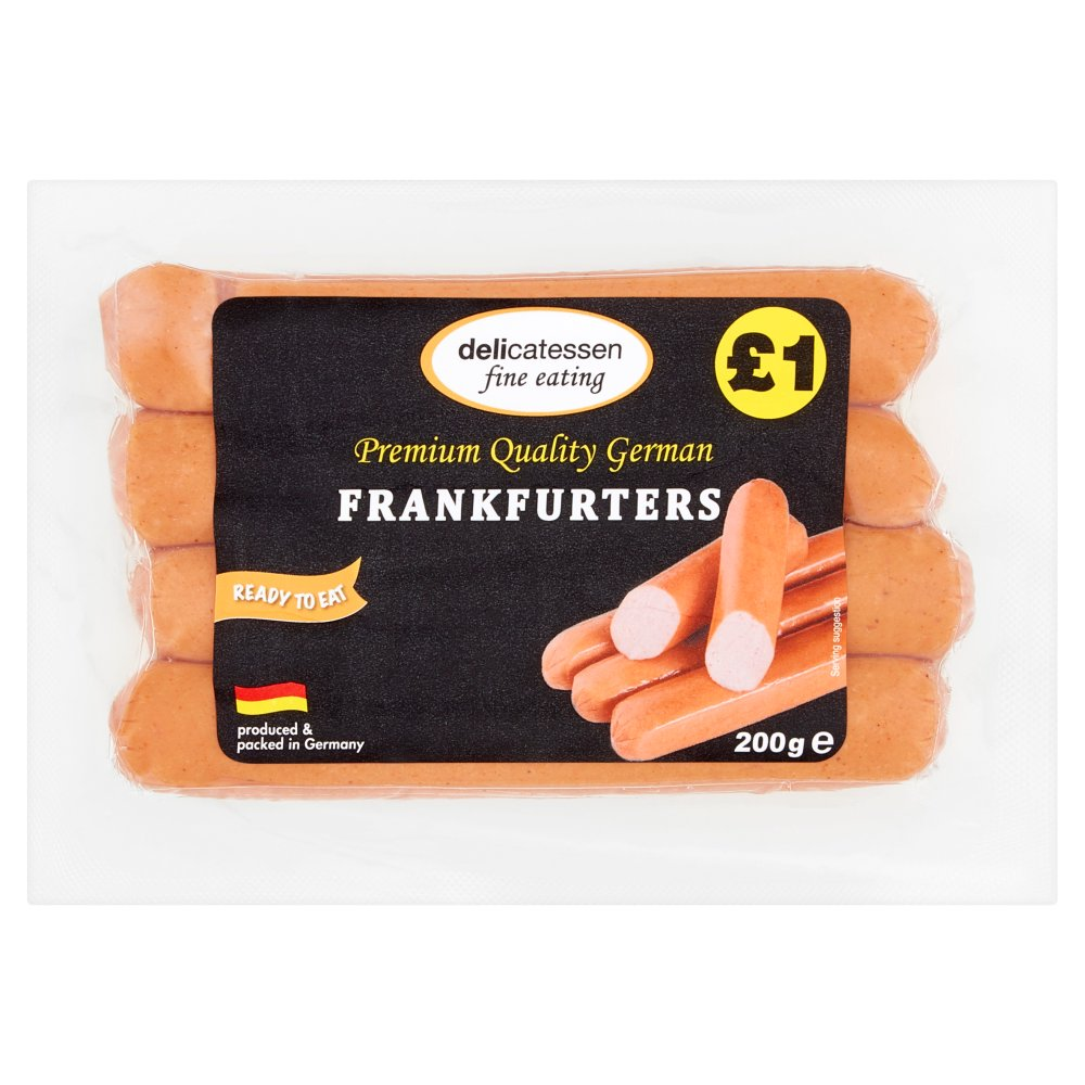 Delicatessan Fine Eating Frankfurters 4s PM £1