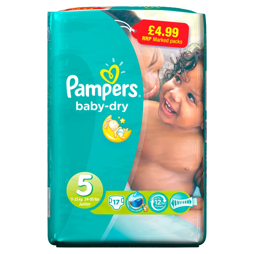 Pampers Baby Dry Small Junior Size5 PM 4.99