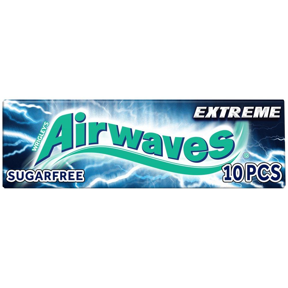Airwaves Extreme Sugar Free Chewing Gum 10 Pieces