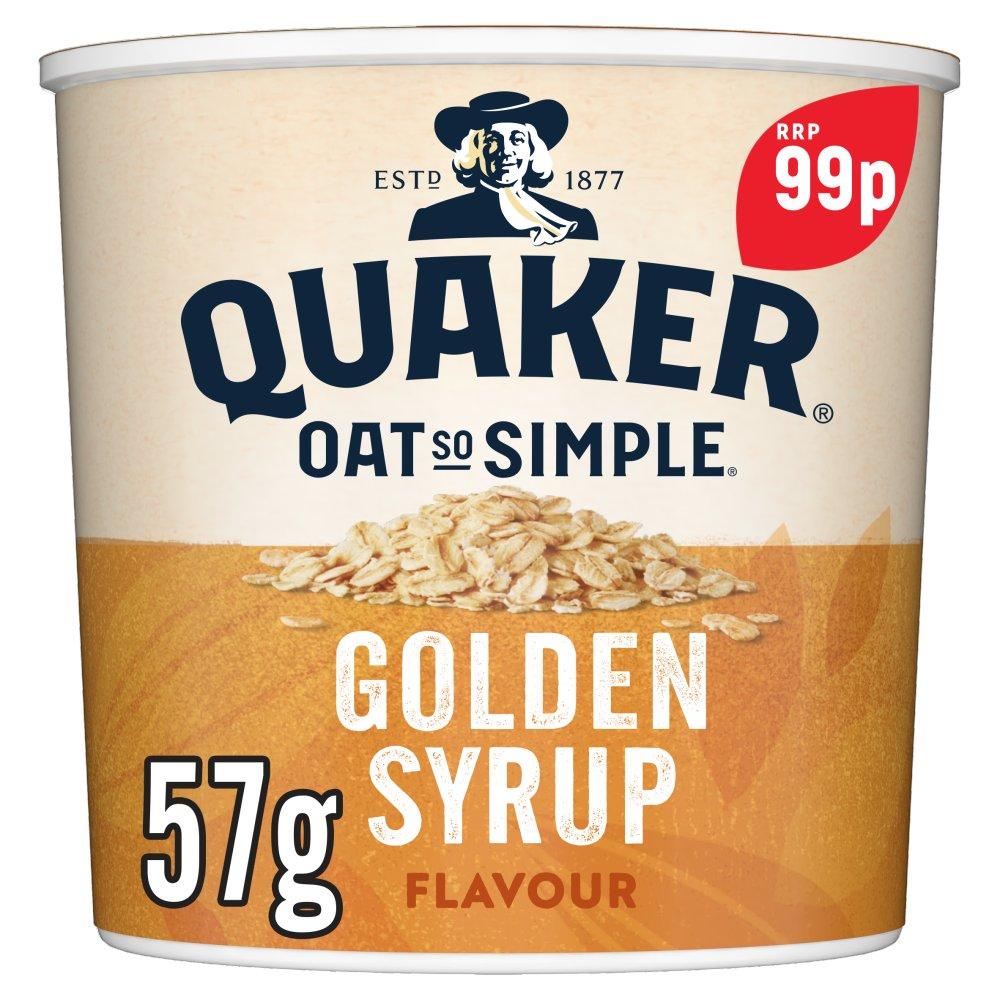 Quaker Oat So Simple Golden Syrup Porridge Pot 99p RRP PMP 57g