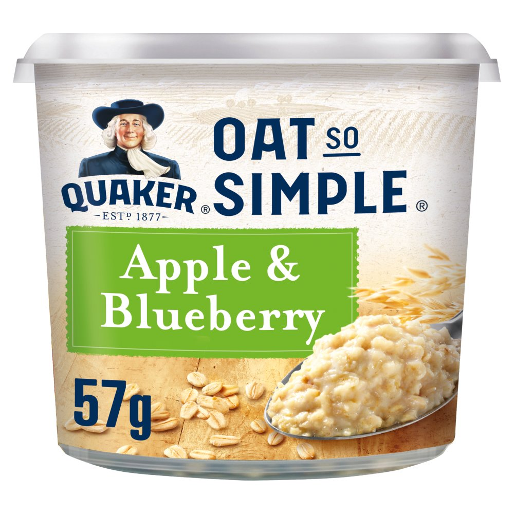 Quaker Oat So Simple Apple & Blueberry Porridge Pot 57g