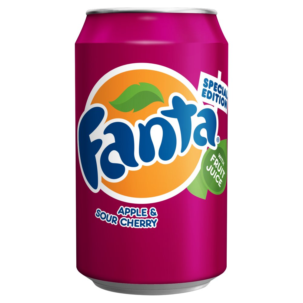 Fanta Apple & Sour Cherry 330ml PMP 59p