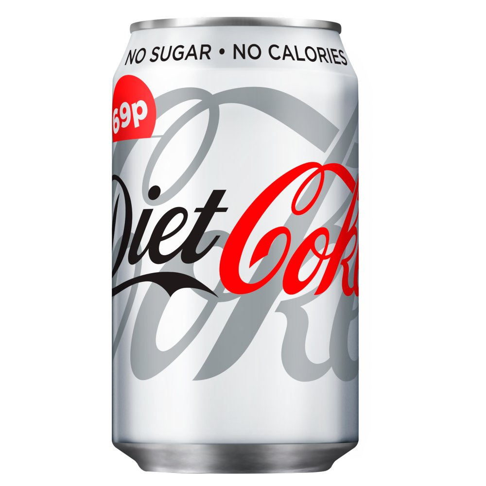 Diet Coke 330ml PMP 69p