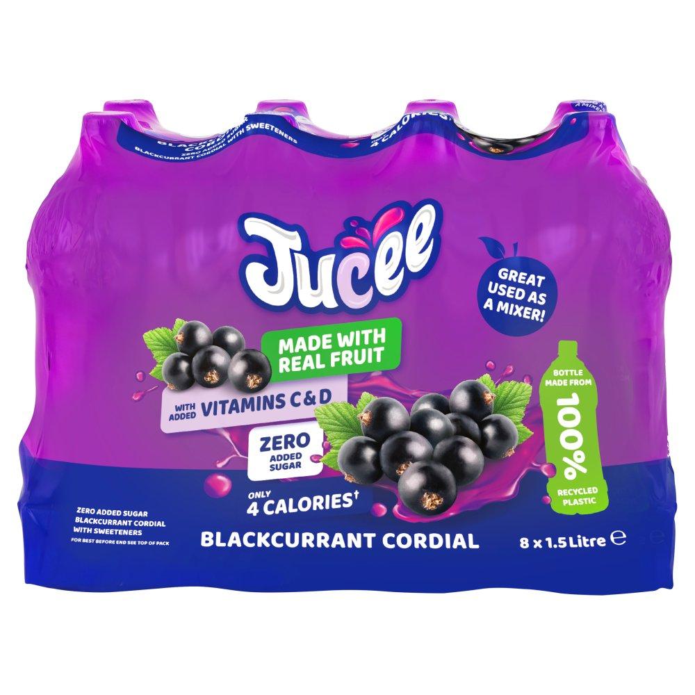Jucee No Added Sugar Blackcurrant 8 x 1.5 Ltr
