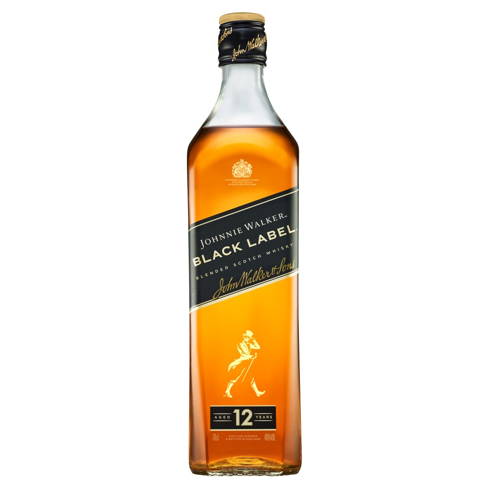 Johnnie Walker Black Label Blended Scotch Whisky 70cl