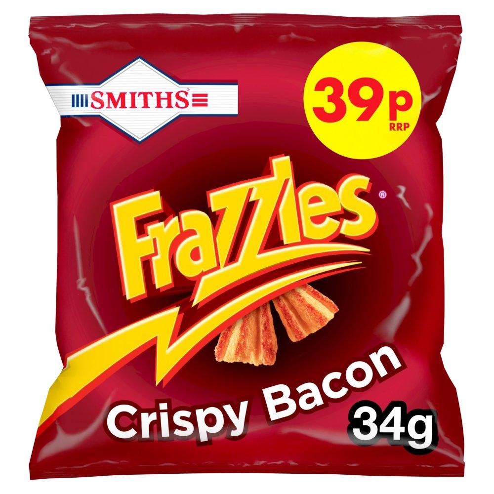Smiths Frazzles Crispy Bacon Snacks 39p PMP 34g