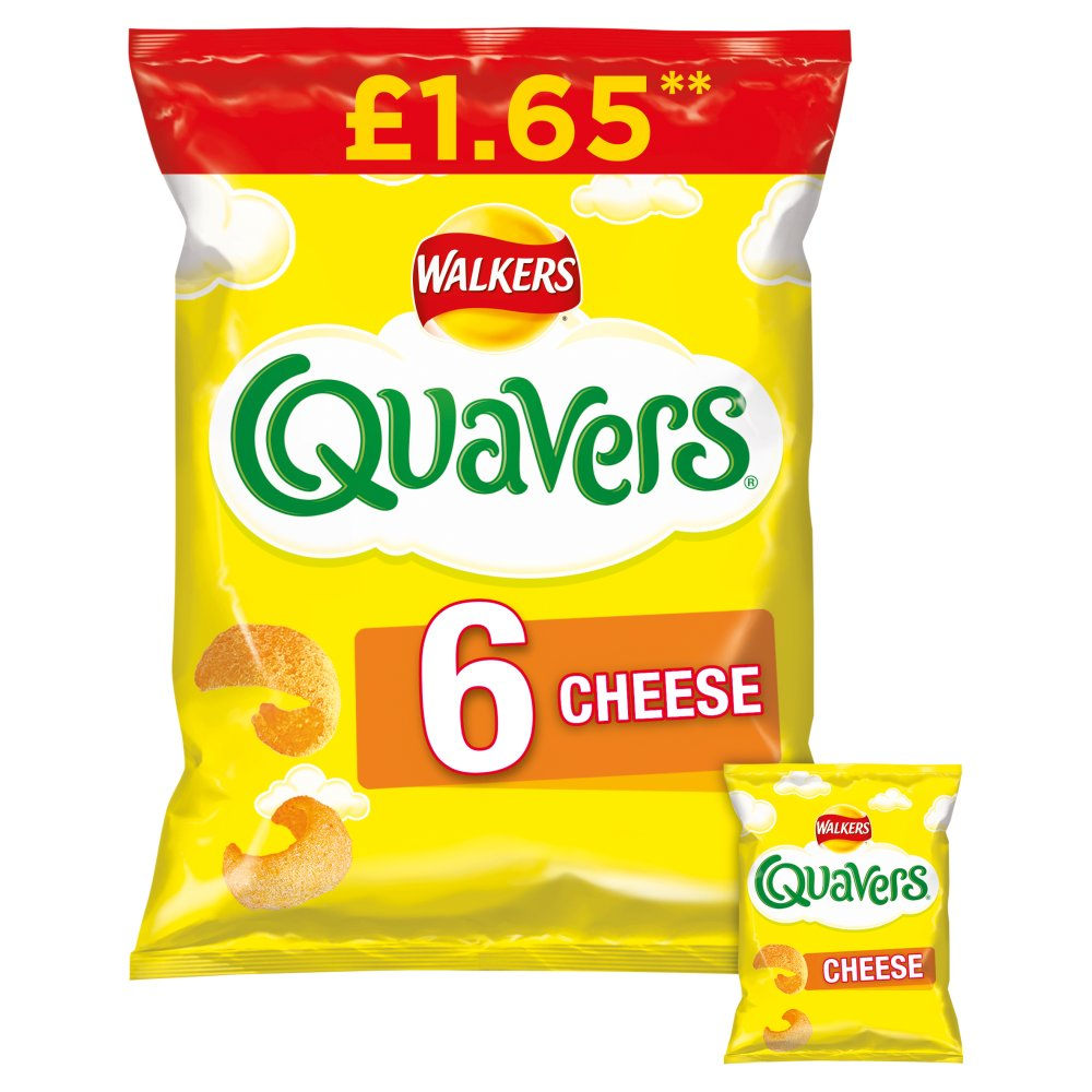 Walkers Quavers Cheese Multipack Snacks £1.65 RRP PMP 6x16g