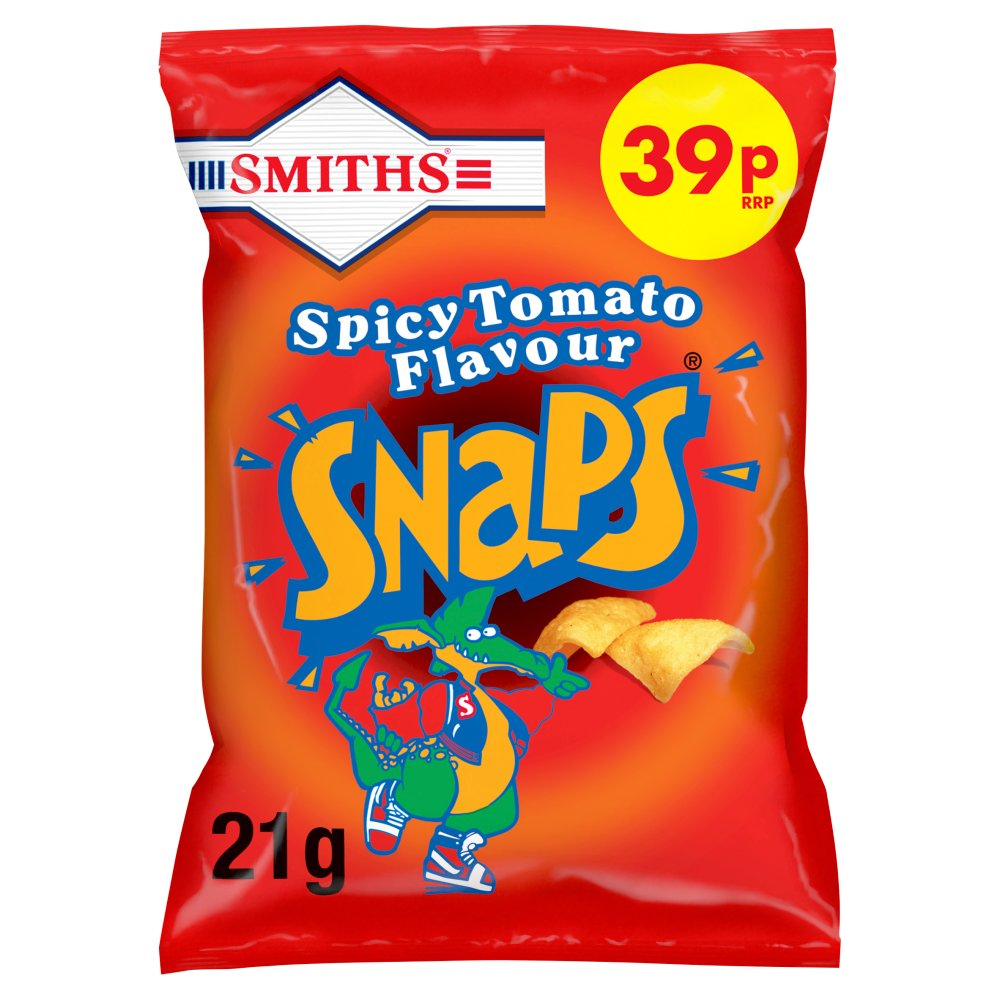 Smiths Snaps Spicy Tomato Snacks 39p PMP 21g