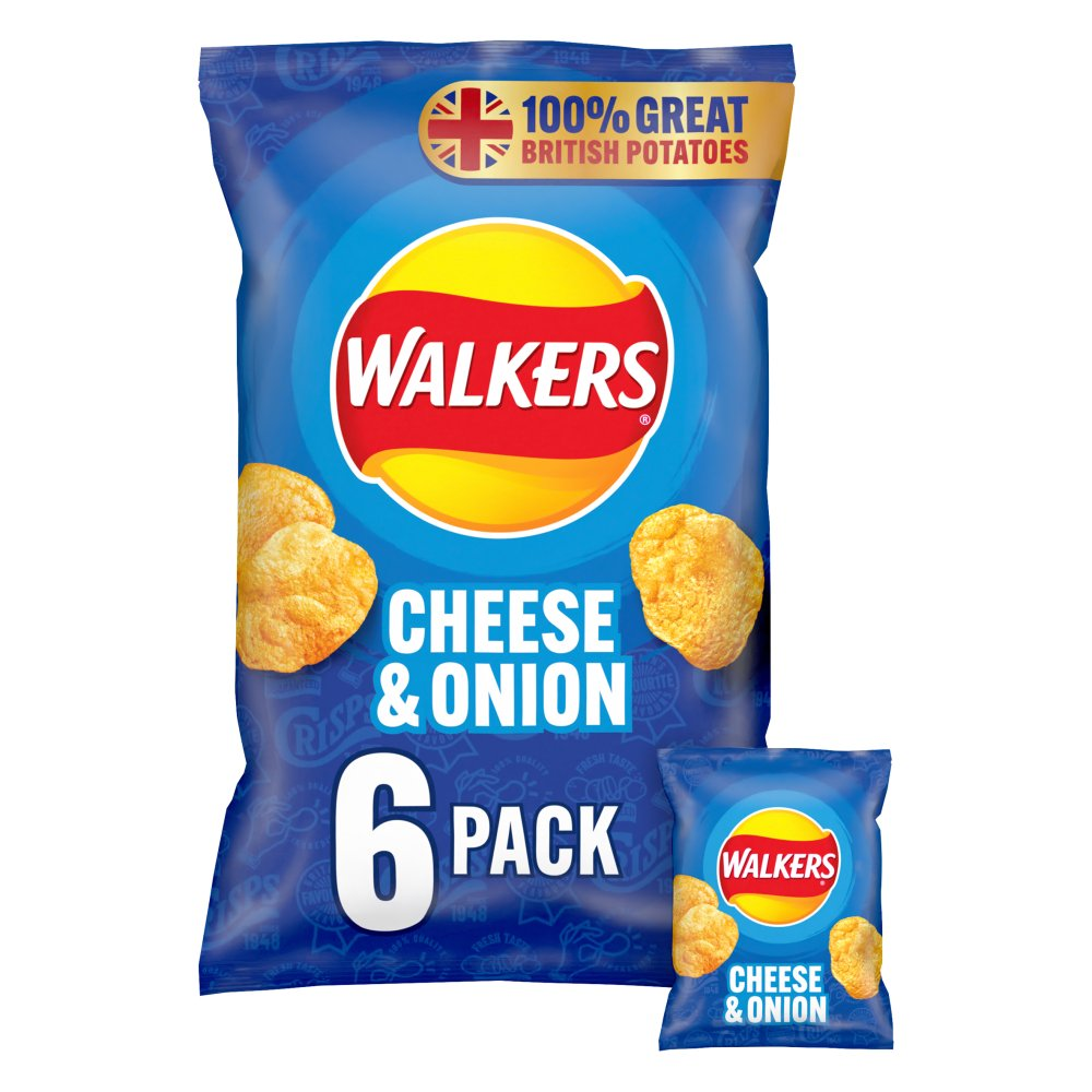Walker Cheese & Onion 6pack