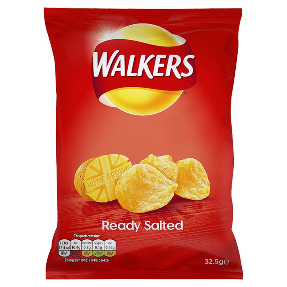 Walkers Crisps Ready Salted 50p