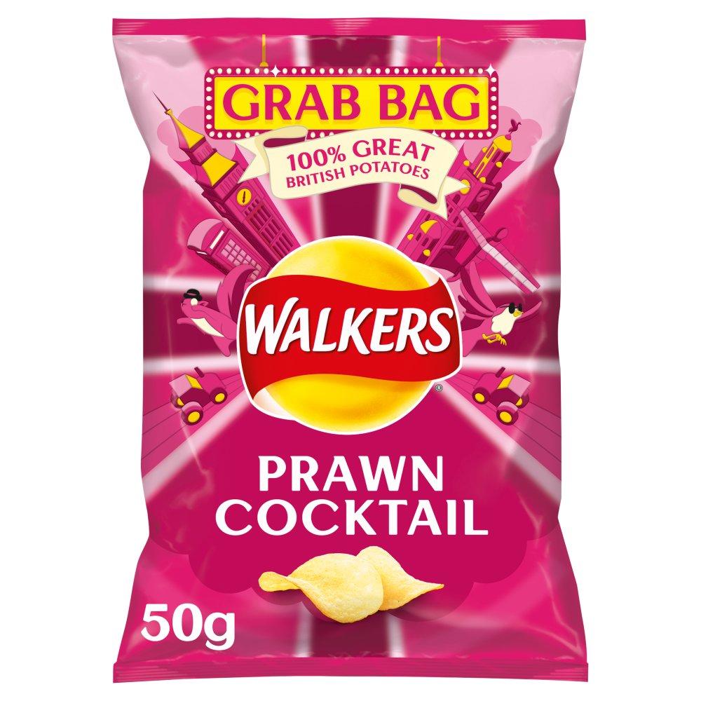 Walkers Prawn Cocktail Grab Bag Crisps 50g
