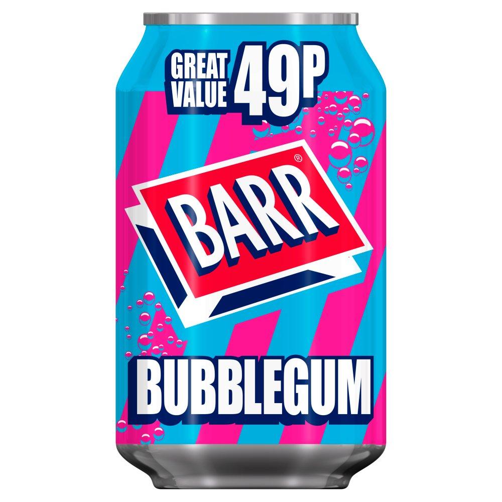 Barr Bubblegum 330ml Can, PMP 49p