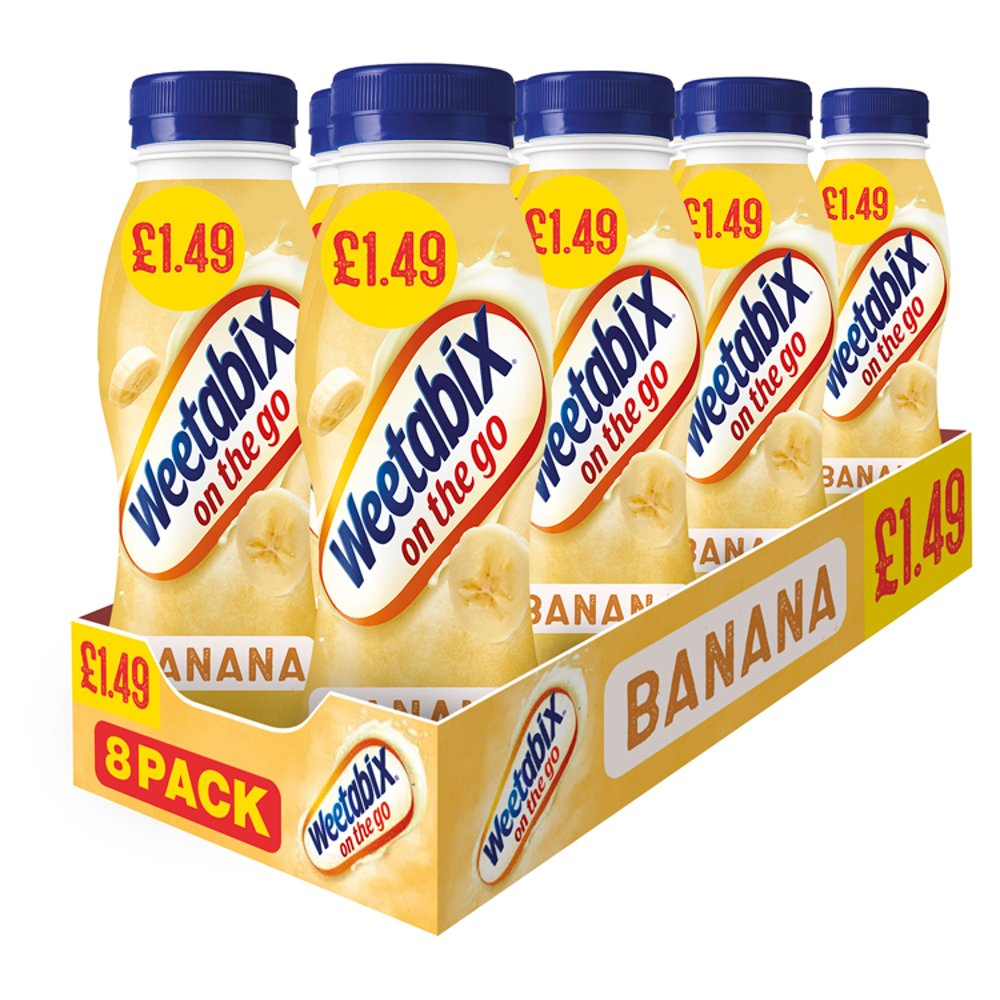 Weetabix On The Go Banana Breakfast Drinks Case 8 x 250ml PMP £1.49