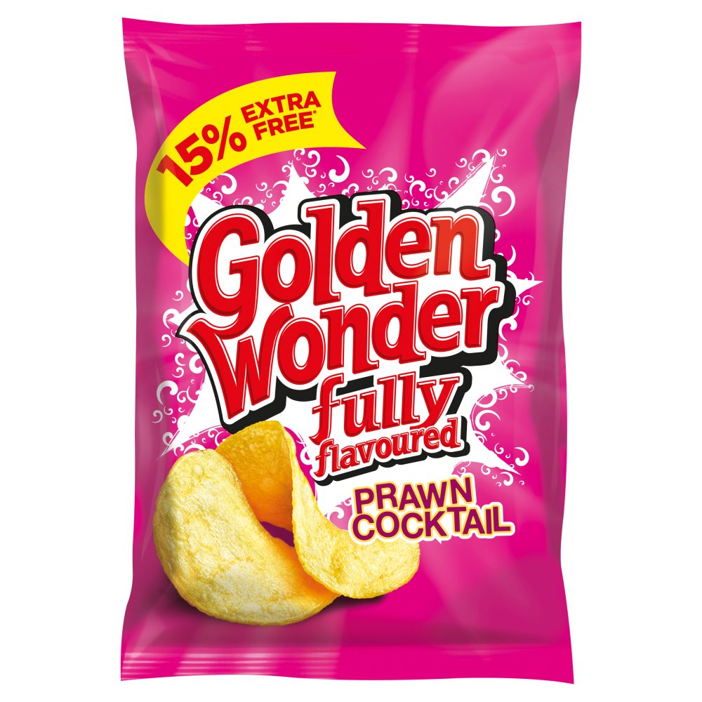 Golden Wonder Prawn Cocktail 15percent Extra