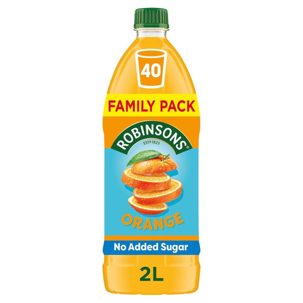 Robinsons Orange No Added Sugar Fruit Squash 2L