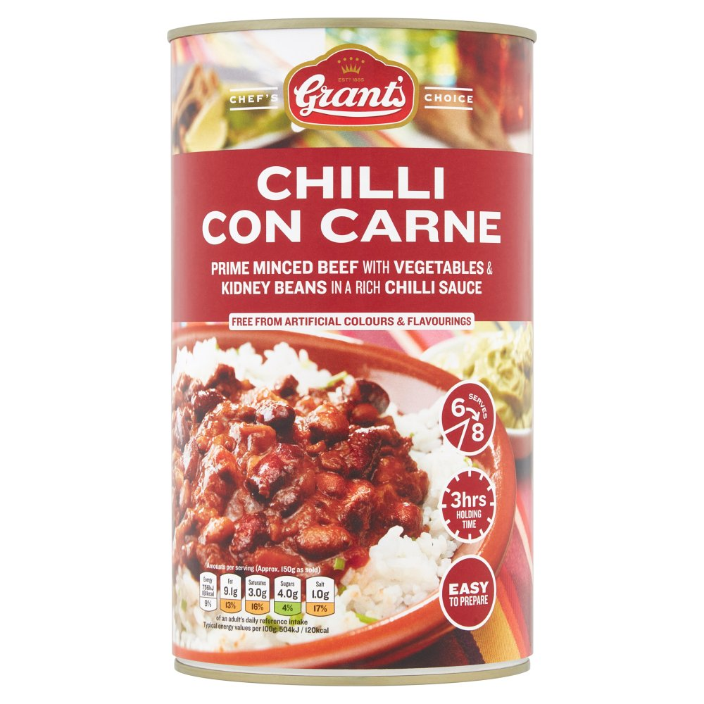 Grants Chef Choice Chilli Con Carne