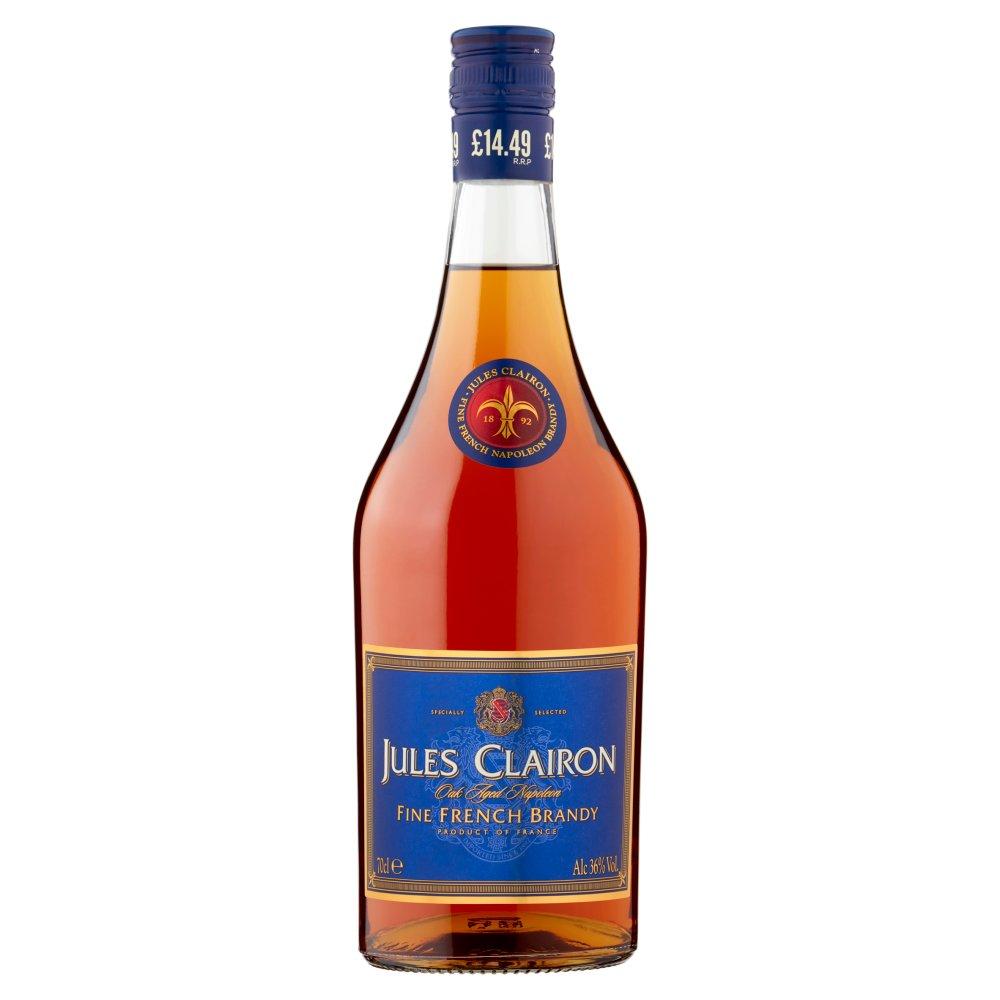 Jules Clairon Oak Aged Napoleon Fine French Brandy 70cl PMP £14.49