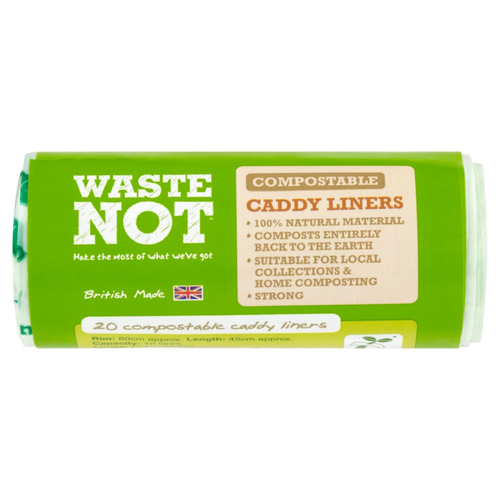 Waste Not 20 Compostable Caddy Liners