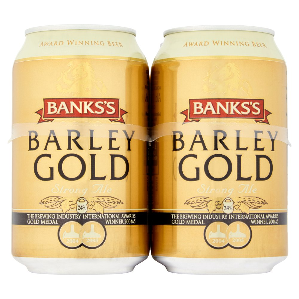 Banks's Barley Gold Strong Ale 4 x 330ml