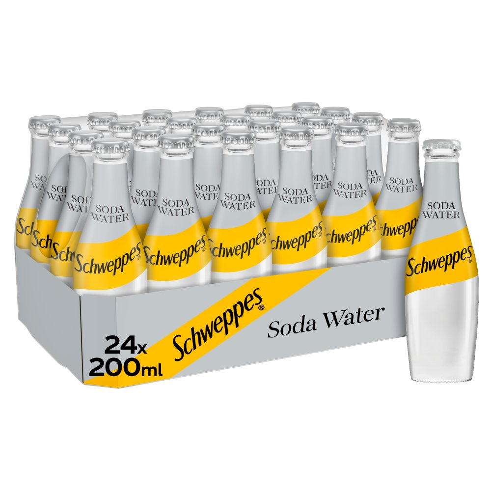 Schweppes Soda Water 24 x 200ml