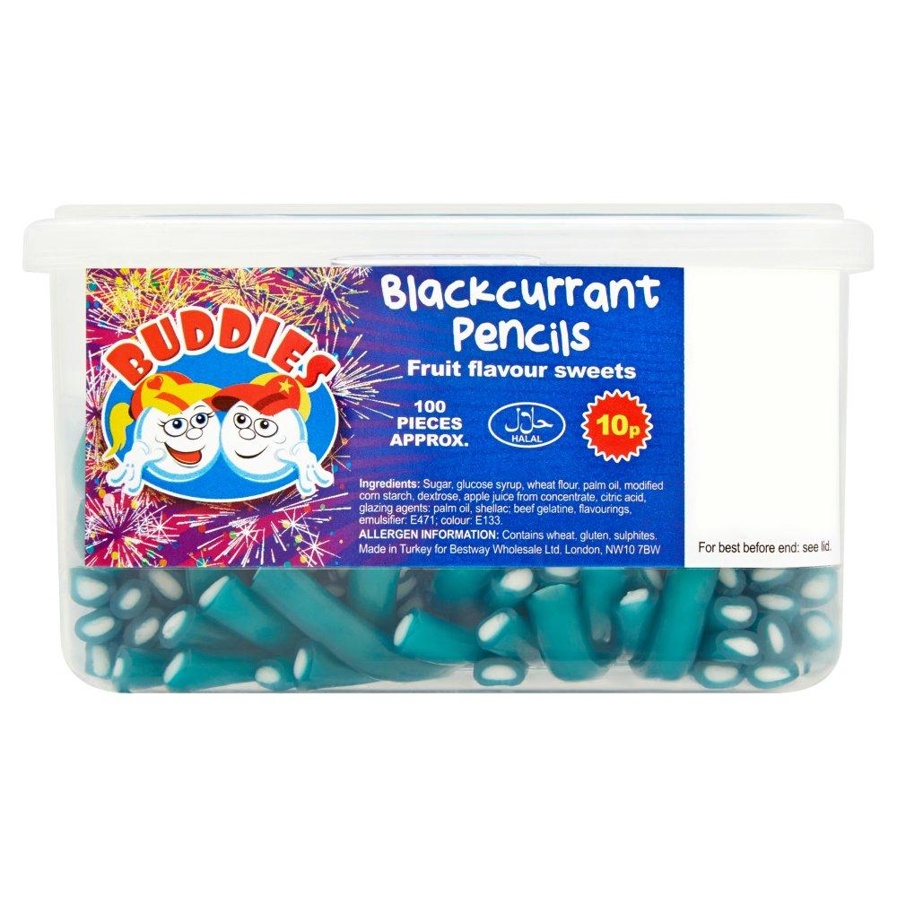 Buddies Blackcurrant Pencils Fruit Flavour Sweets
