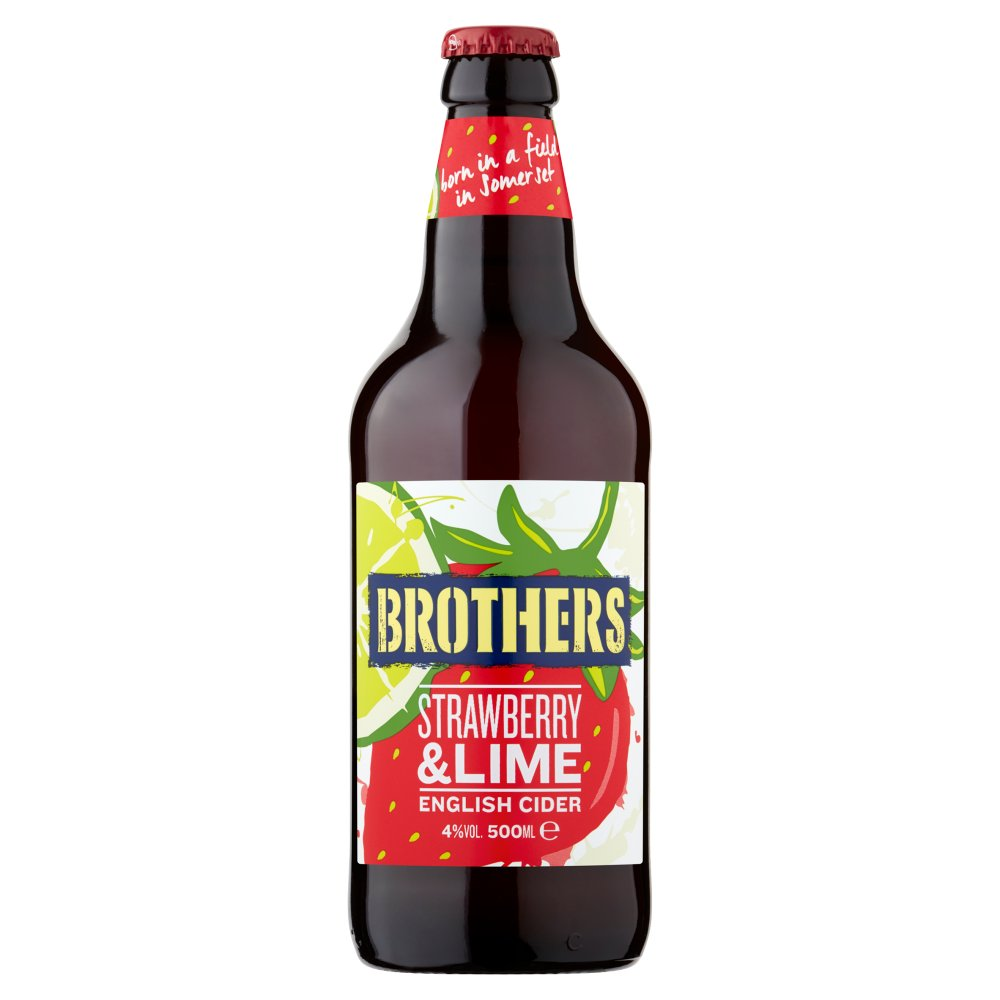Brothers Strawberry & Lime English Cider 500ml