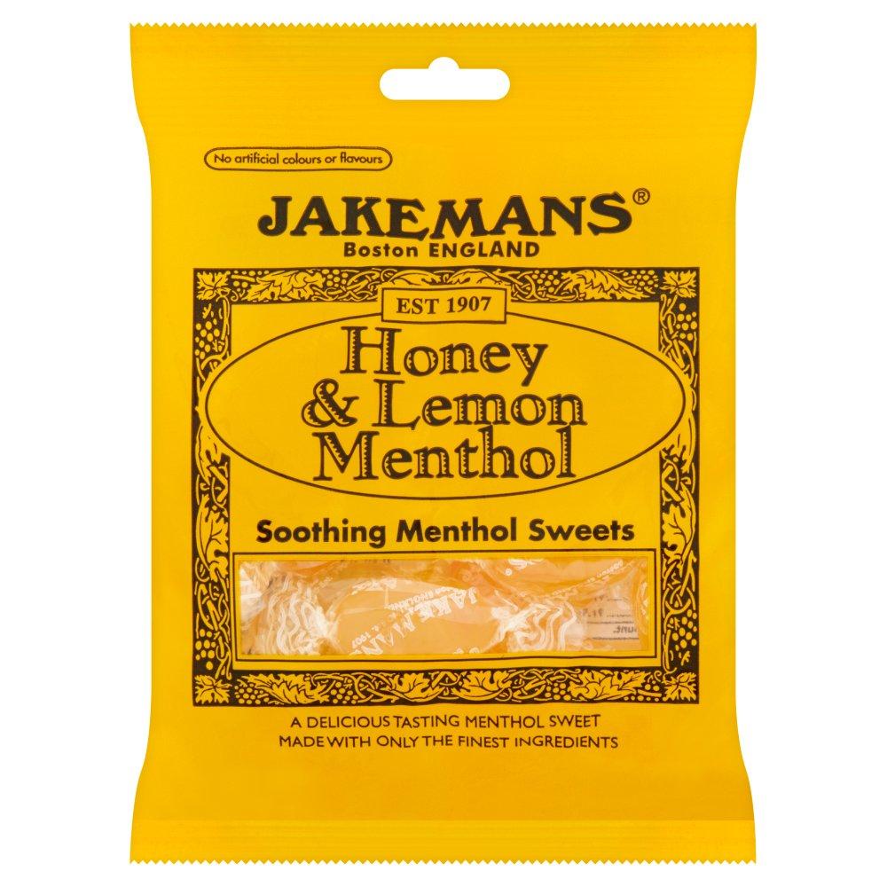 Jakemans Honey & Lemon Menthol Soothing Menthol Sweets 100g