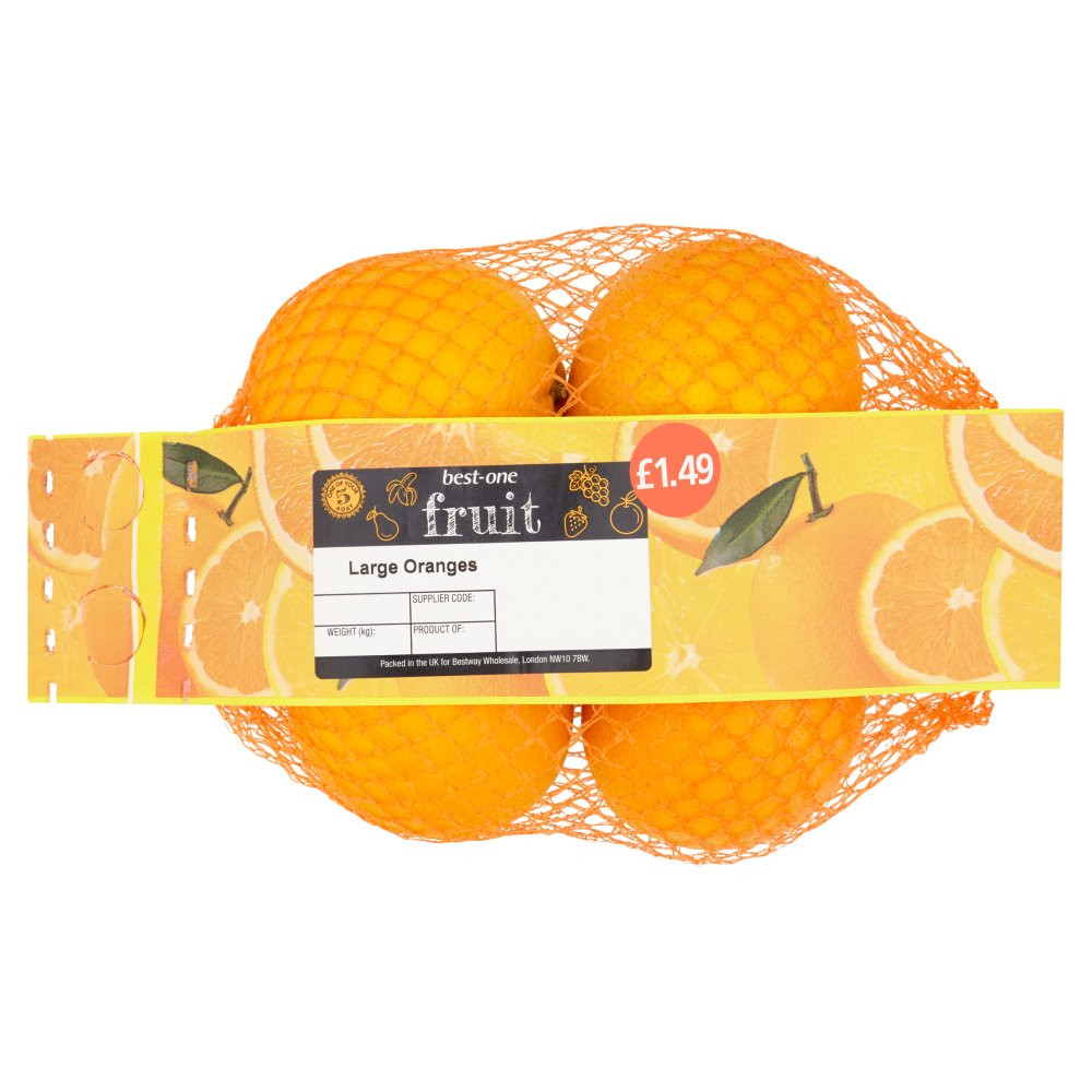 B/In Oranges Large 1.49 4pk