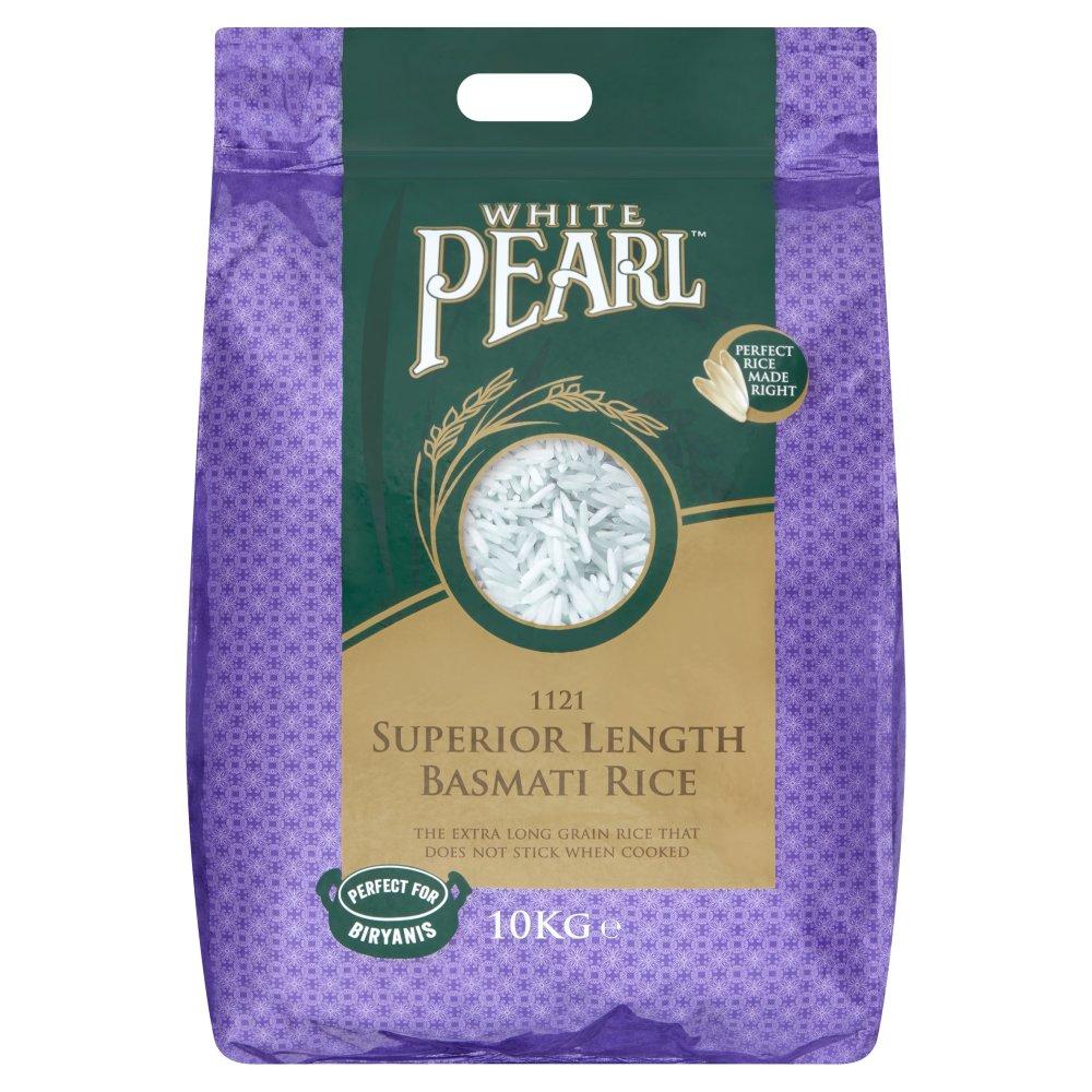 White Pearl 1121 Superior Length Basmati Rice 10kg