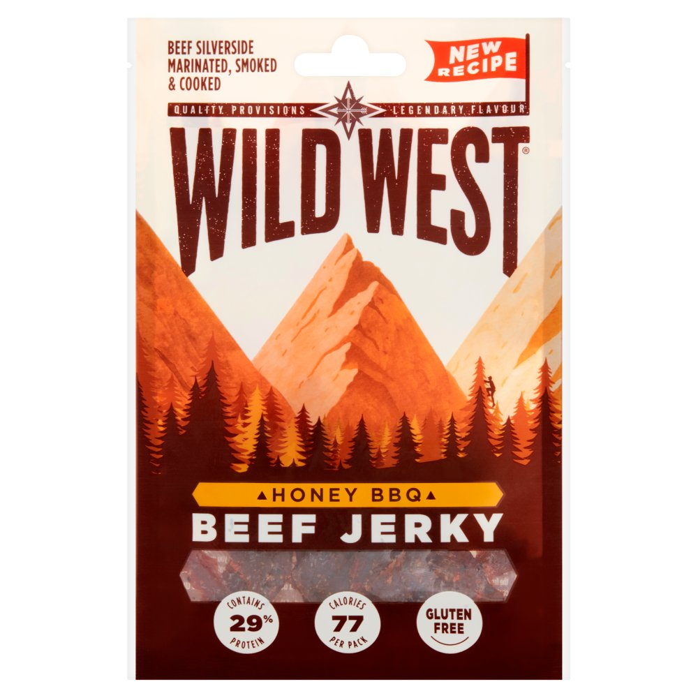 Wild West Honey BBQ Jerky Pub Card