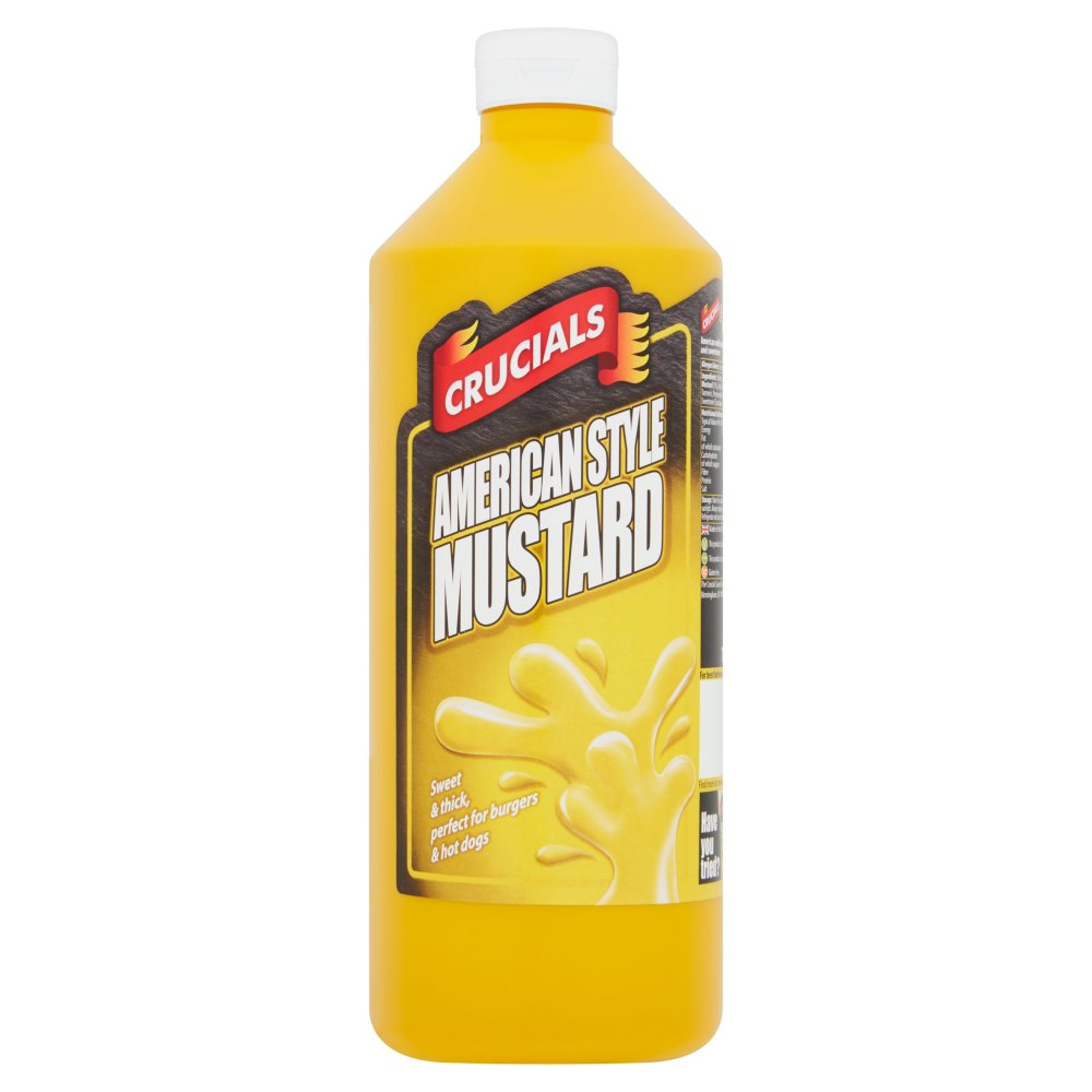 Crucials American Style Mustard, Dip, Dressing 1 Litre