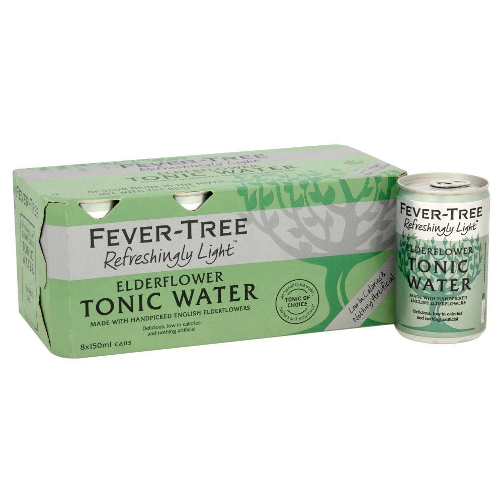 Fever-Tree Refreshingly Light Elderflower Tonic Water 8 x 150ml