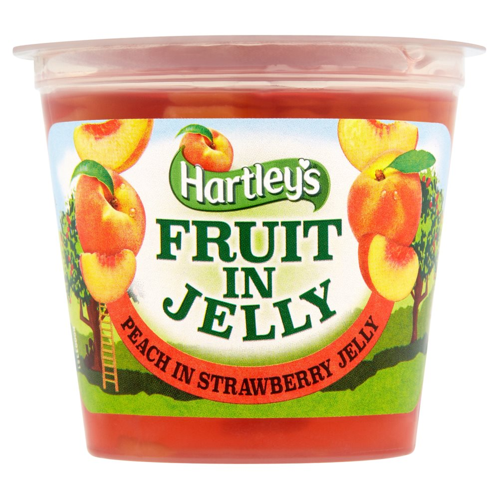 Hartleys Fruit In Jelly Peaches In Strseberry