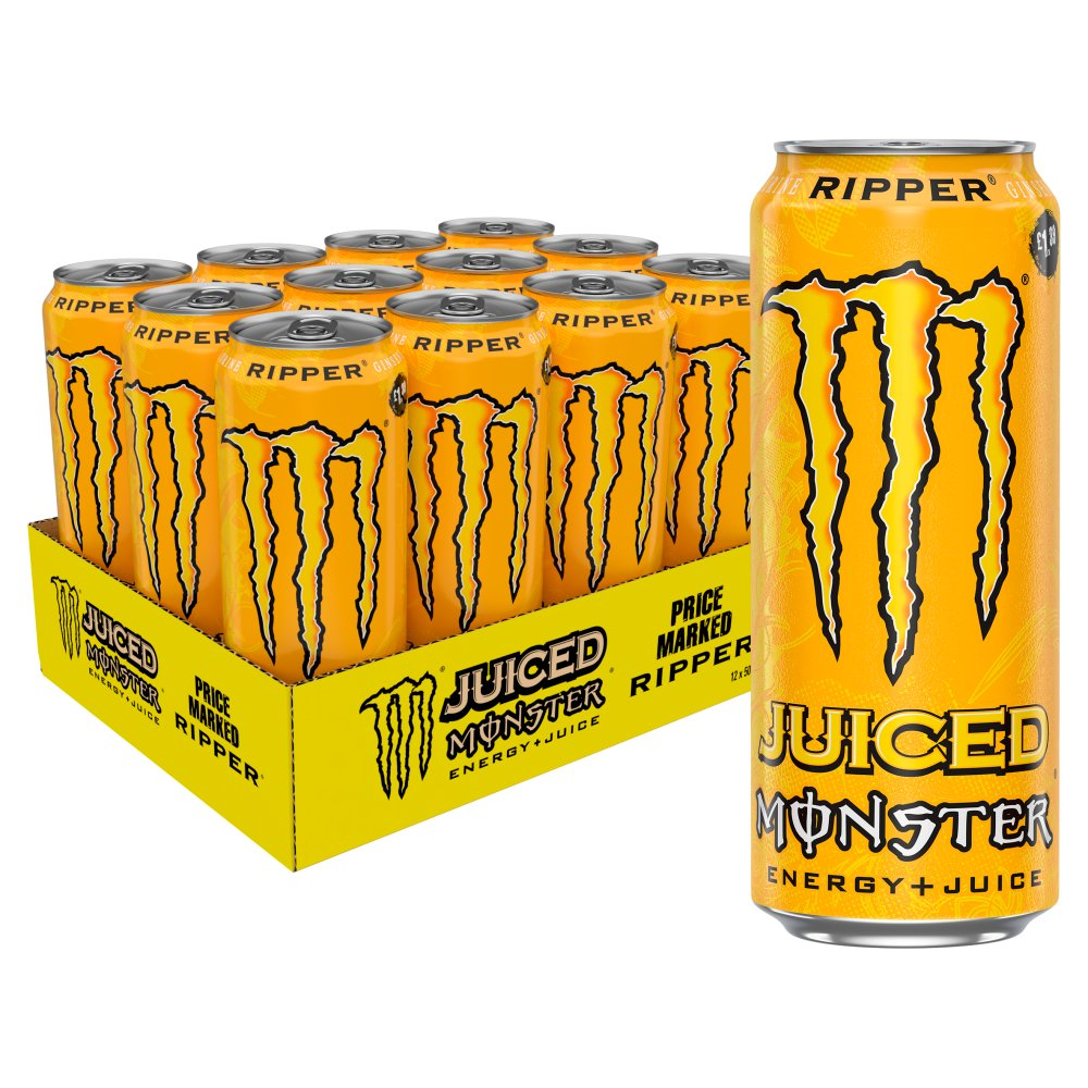 Monster Ripper Juiced Energy Drink 12 x 500ml PM £1.39