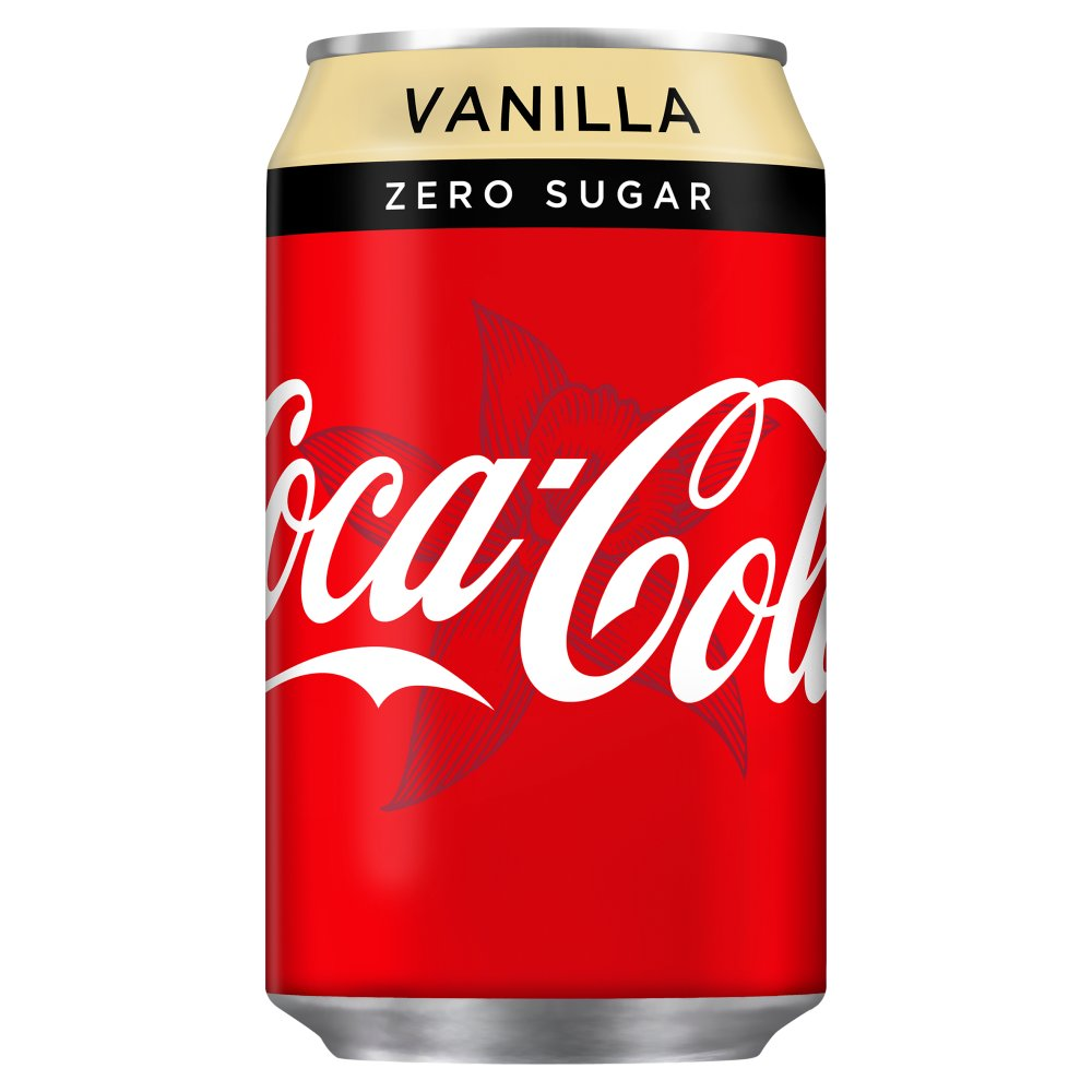 coca cola zero sugar vanilla 330ml bestway wholesale. Black Bedroom Furniture Sets. Home Design Ideas