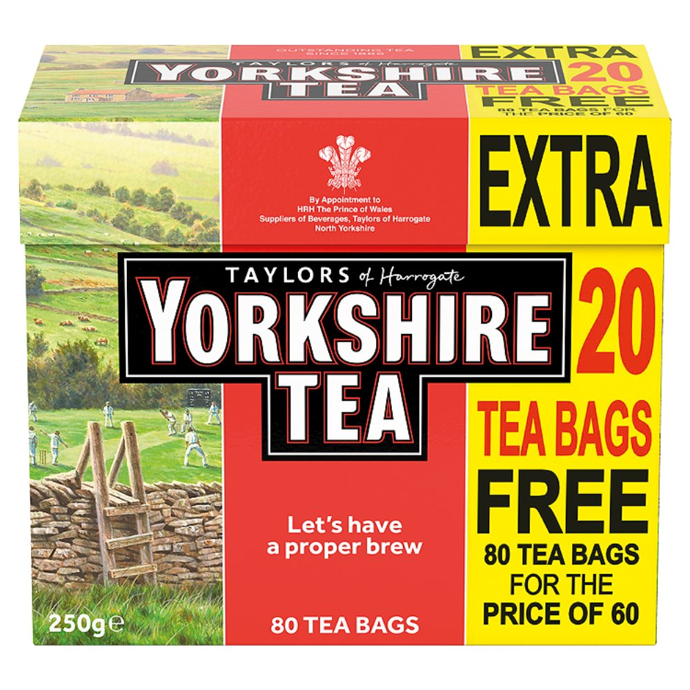 Yorkshire Teabags + 20 Free